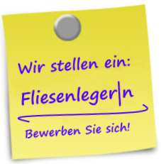 Post-it Fliesenleger|n gesucht